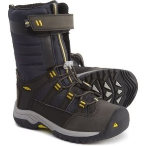 KEEN Snowport Neo Toddler Boy Boots Navy/Yellow